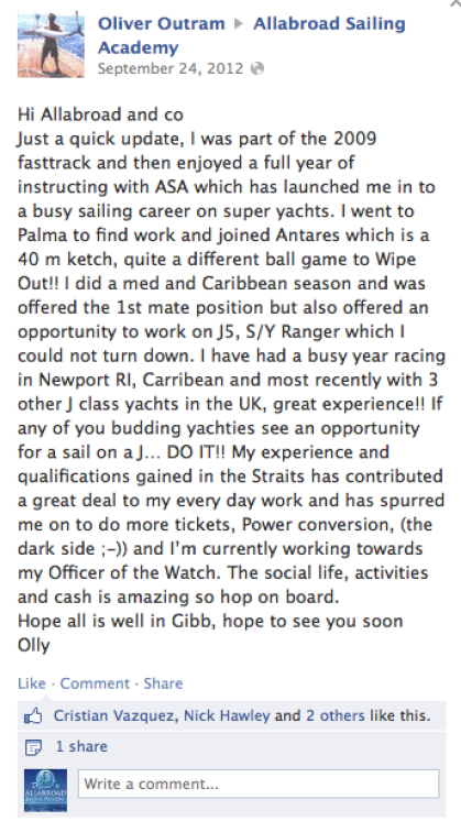 Fast Track courses review Olly