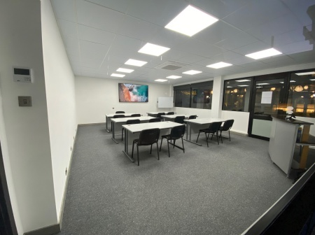 Interior picture of the Yachtmaster Offshore training rooms at Allabroad.