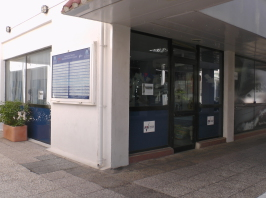 Outside of the Yachtmaster offshore training building at Allabroad Sailing Academy in Gibraltar