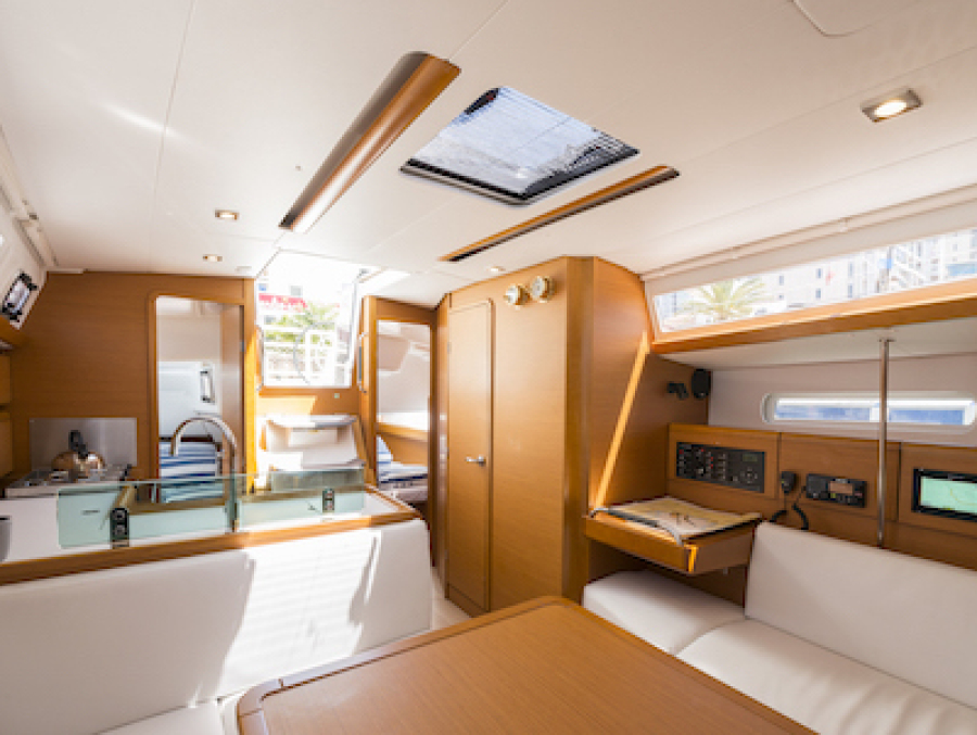 Spacious interior for the competent crew RYA course