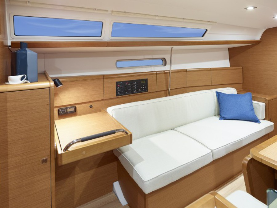 interior view of the RYA competent crew training vessel