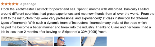 Allabroad Sailing Academy review from John C