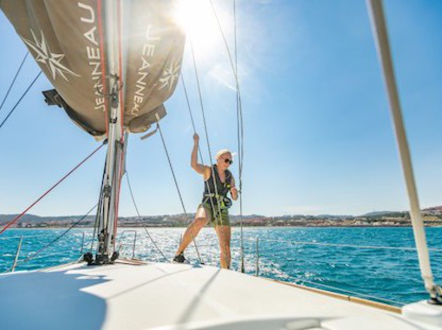 ASA Yacht during RYA Day Skipper course in Gibraltar