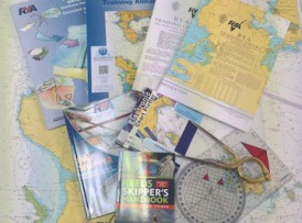 RYA Day Skipper Theory Charts, Plotter, and dividers